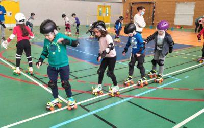 Cycle patins à roulettes en CE1